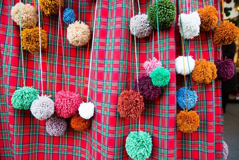 Красочные pompoms ремесла стоковое изображение