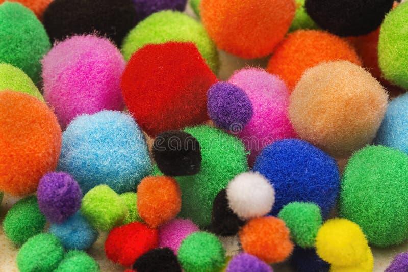 Красочные Pompoms стоковая фотография rf