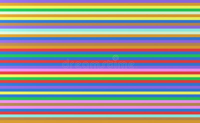 Красочные striped линии Предпосылка текстуры радуги безшовная 3d иллюстрация вектора