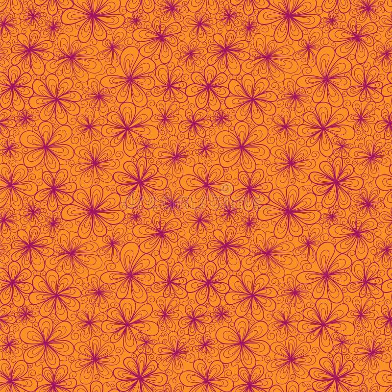 Красочный абстрактный безшовный цветок с стилизованным иллюстрация штока