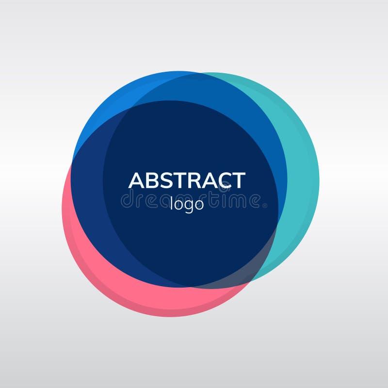 Красочный абстрактный дизайн логотипа значка бесплатная иллюстрация