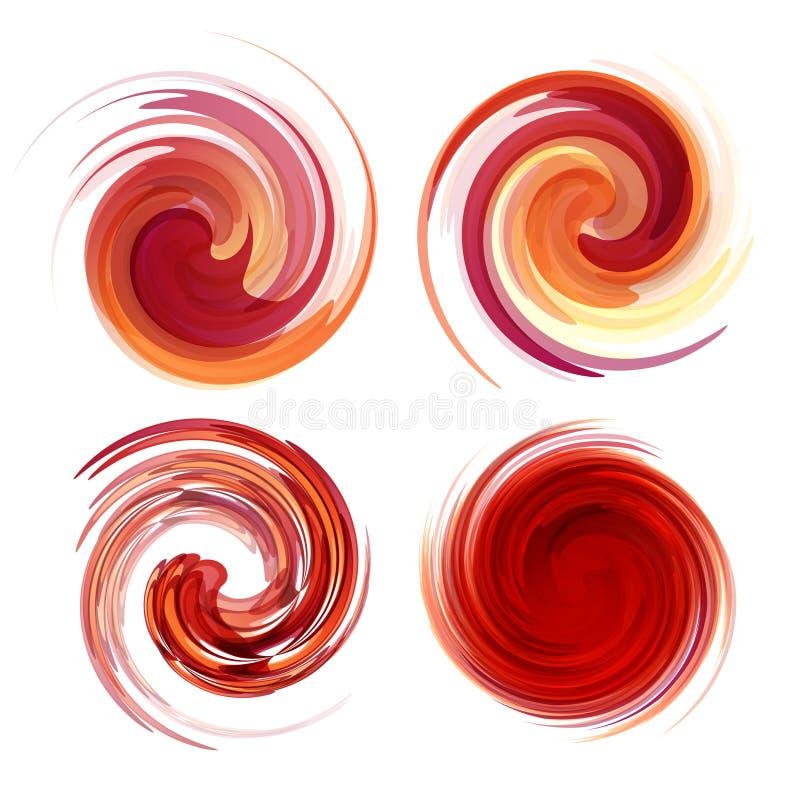 Красочный абстрактный комплект значка Динамическая подача иллюстрация штока