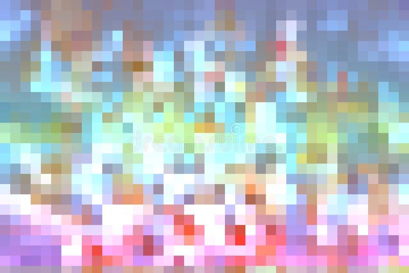 красочный абстрактный цвет выкристаллизовывает искусство квадратная радуга иллюстрация штока