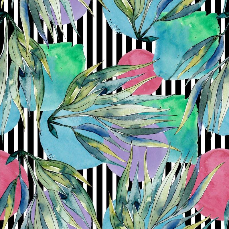 Красочный акватический подводный коралловый риф природы Безшовная картина предпосылки иллюстрация вектора