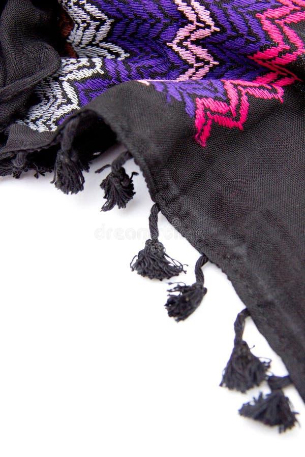 Красочный арабский шарф изолированный на белой предпосылке стоковое фото rf