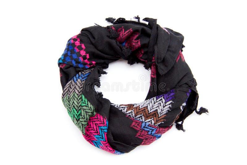 Красочный арабский шарф изолированный на белой предпосылке стоковые фотографии rf