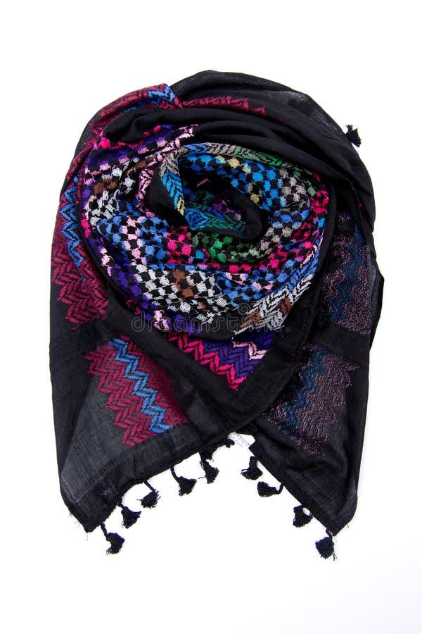 Красочный арабский шарф изолированный на белой предпосылке стоковые фото