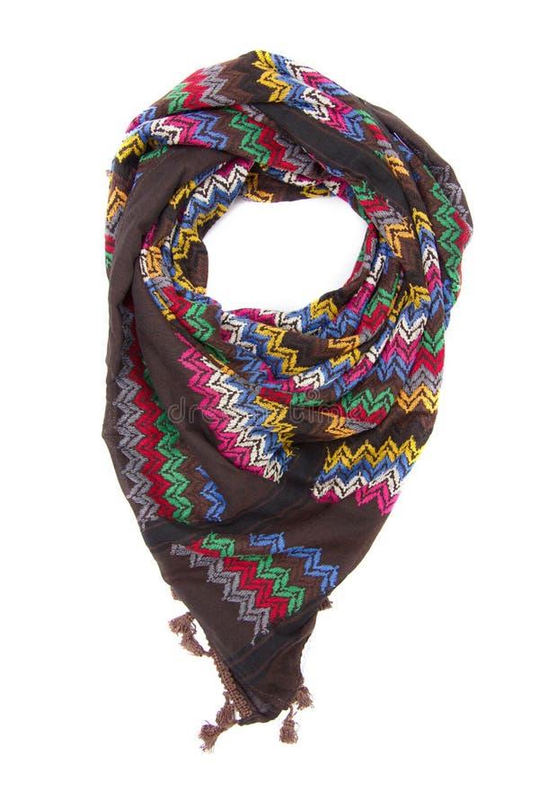 Красочный арабский шарф на белой предпосылке стоковая фотография