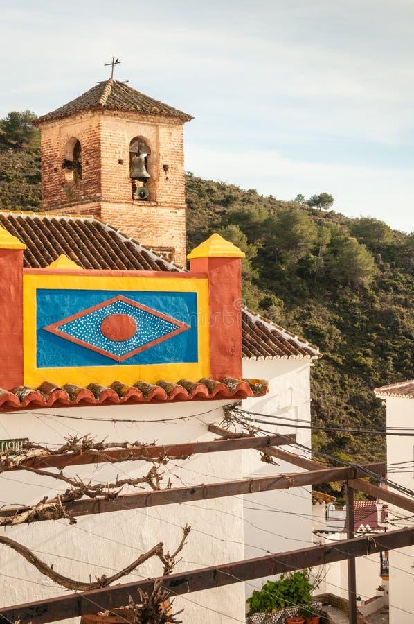 Красочный балкон в Axarquia стоковое изображение rf