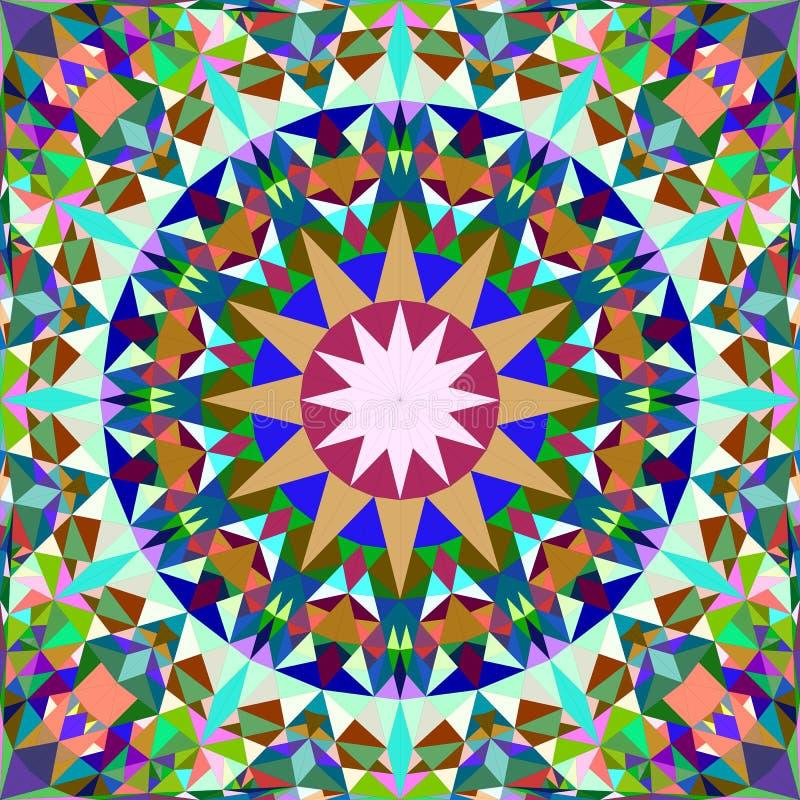 Красочный безшовный дизайн предпосылки картины калейдоскопа - абстрактные обои мандалы вектора иллюстрация штока