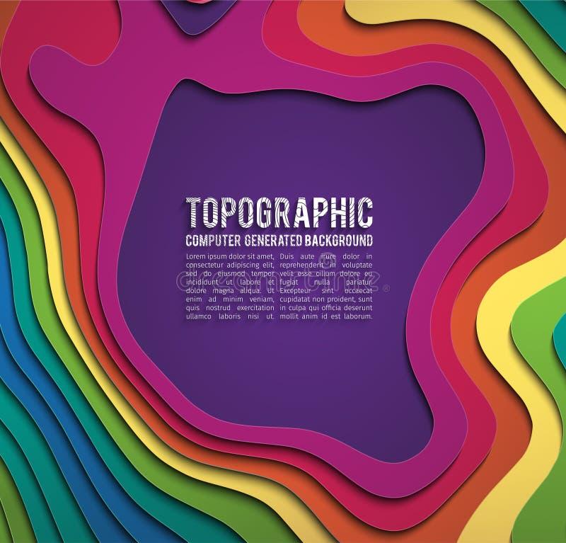 Красочный бумажный вырез Концепция знамени отрезка бумаги Бумага высекает голубой градиент для дизайна рогульки брошюры плаката к иллюстрация вектора