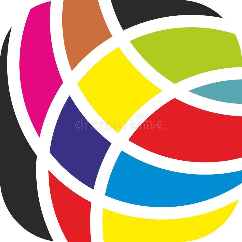 Красочный вектор логотипа, высокое разрешение, полезный логотип для компании спорта бесплатная иллюстрация
