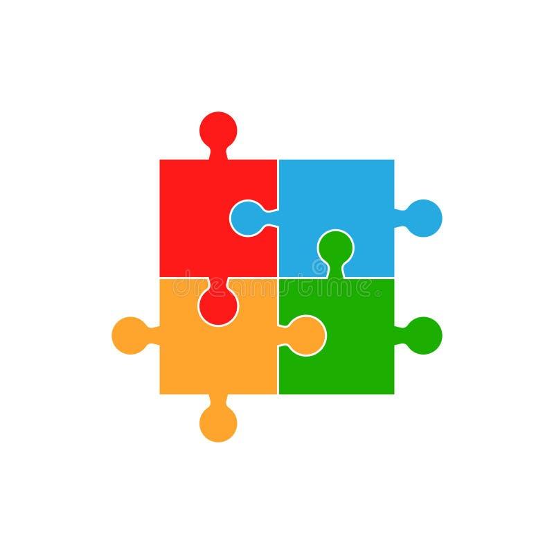 Красочный вектор мозаики Плоская иллюстрация серия головоломки голубой игры серая иллюстрация штока
