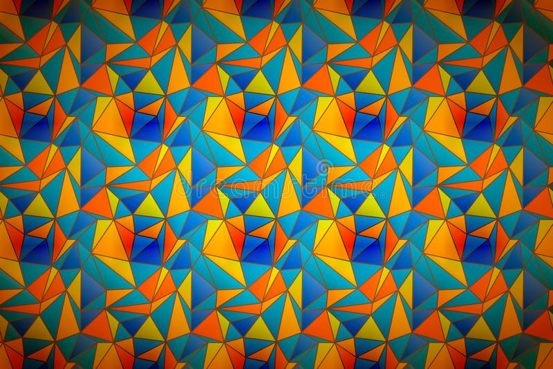 Красочный витраж, широкая детальная предпосылка бесплатная иллюстрация