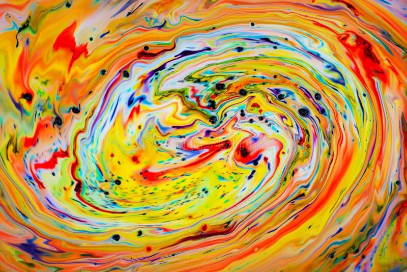 Красочный водоворот подачи стоковые фотографии rf