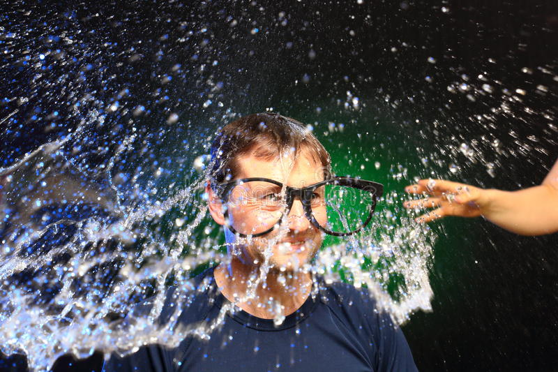 Красочный вод-выплеск стоковые фото