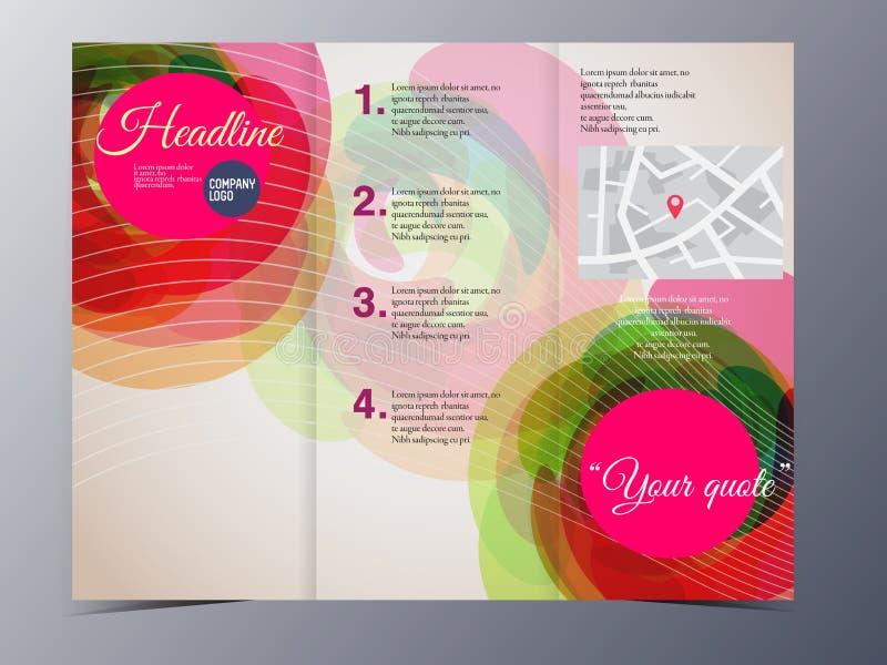 Красочный геометрический графический шаблон брошюры стиля бесплатная иллюстрация