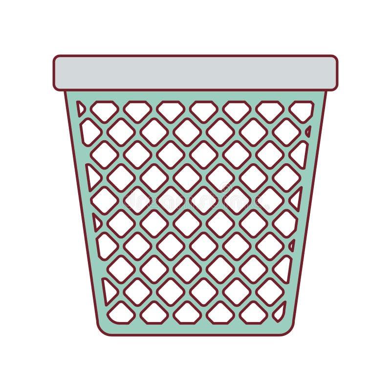 Красочный график мусорного бака офиса с темнотой - контуром красной линии бесплатная иллюстрация
