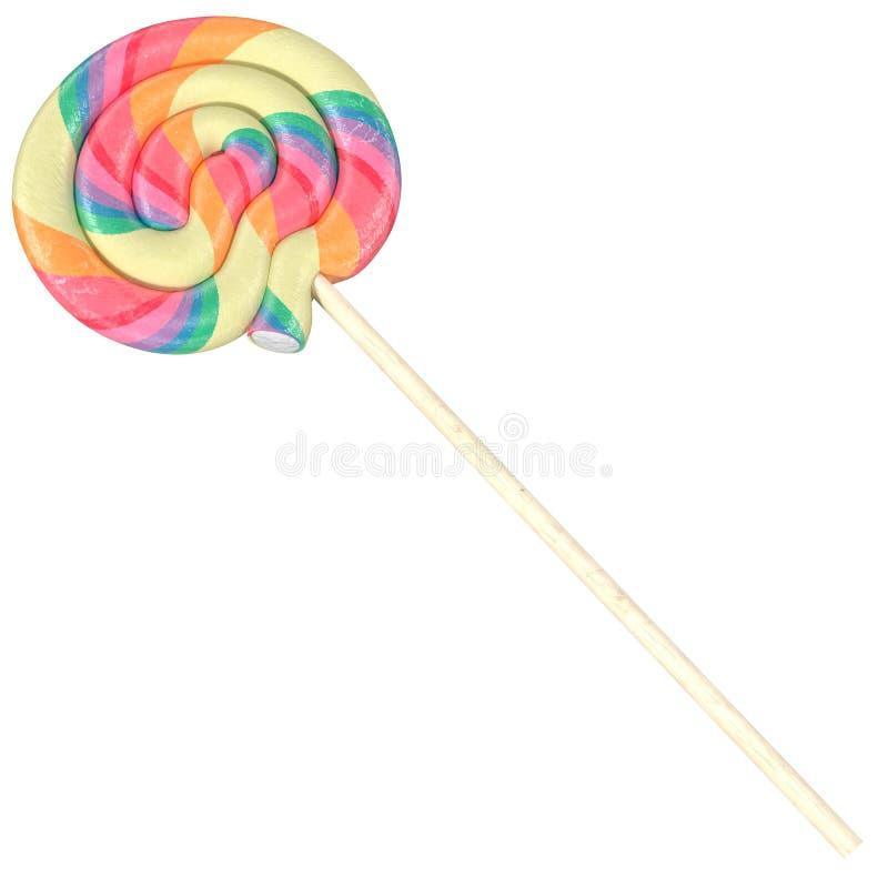 Download Красочный леденец на палочке изолированный на белой предпосылке, иллюстрации 3d Иллюстрация штока - иллюстрации насчитывающей флейвор, слащаво: 81814952