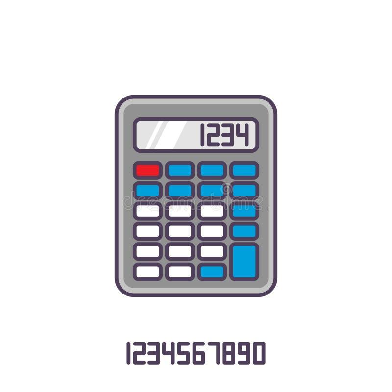 Красочный значок калькулятора Иллюстрация вектора в плоском стиле бесплатная иллюстрация