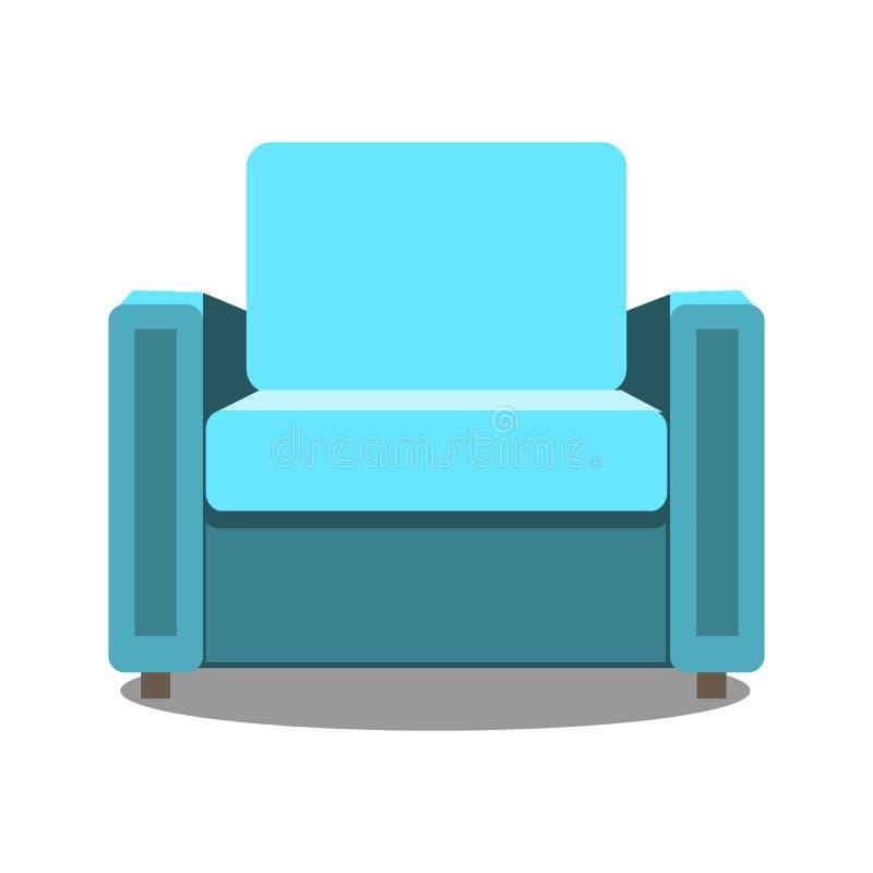 Красочный значок кресла для вашего дизайна Плоское изолированное кресло шаржа также вектор иллюстрации притяжки corel бесплатная иллюстрация