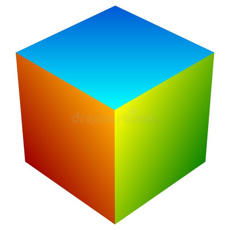 Download Красочный значок куба Современные, яркие родовой значок/штабелированный логотип W Иллюстрация вектора - иллюстрации насчитывающей логос, angiosperms: 81811629
