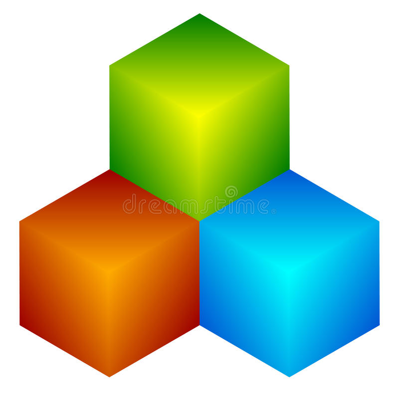 Download Красочный значок куба Современные, яркие родовой значок/штабелированный логотип W Иллюстрация вектора - иллюстрации насчитывающей green, concept: 81811651