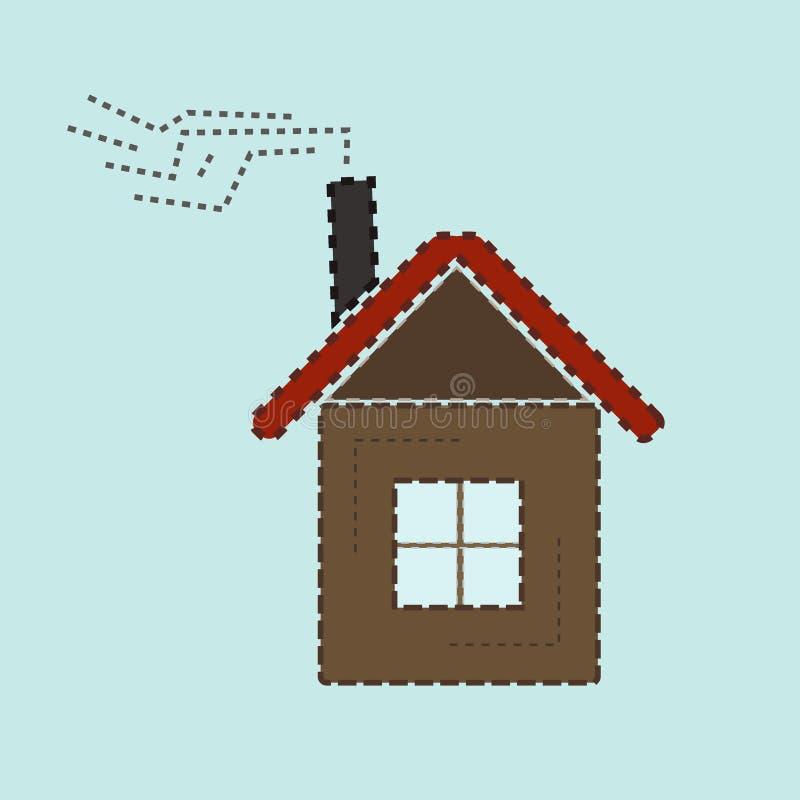 Красочный значок дома иллюстрация вектора