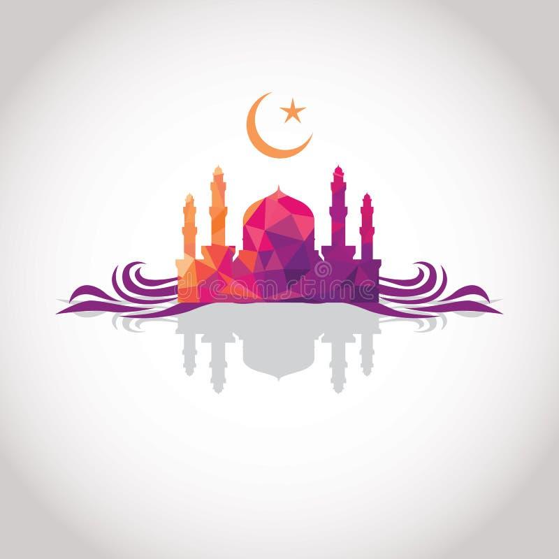 Красочный дизайн мозаики - мечеть иллюстрация штока