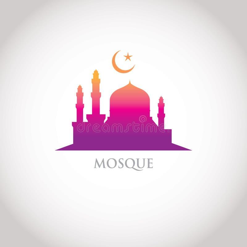 Красочный дизайн ступенчатости - мечеть бесплатная иллюстрация