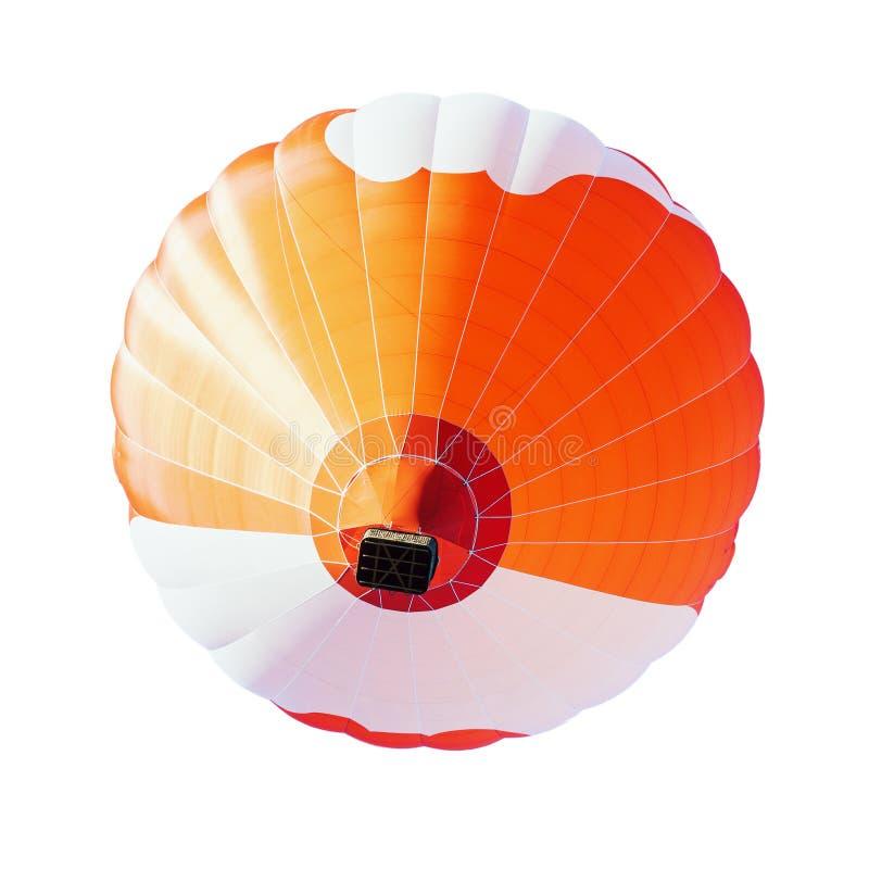 Красочный использующий горячий воздух воздушный шар изолированный на белой предпосылке стоковое фото rf