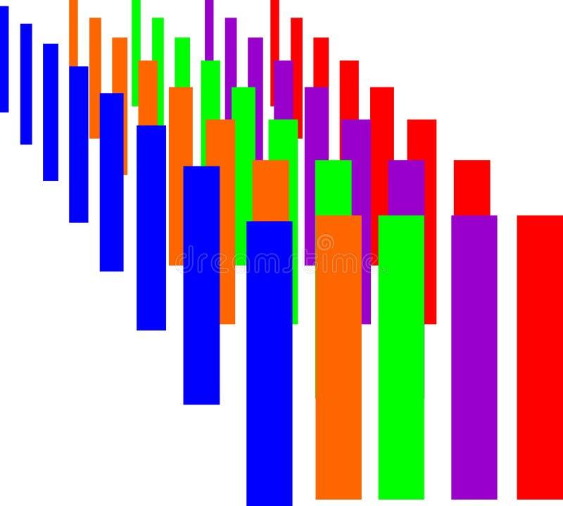 Красочный компьютер предпосылки произвел дизайн изображения 3 d иллюстрация штока