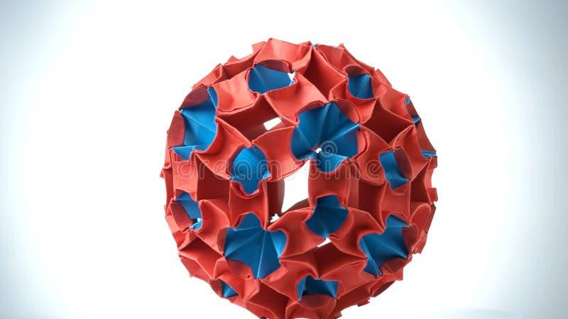 Красочный конец шарика origami вверх стоковые фотографии rf