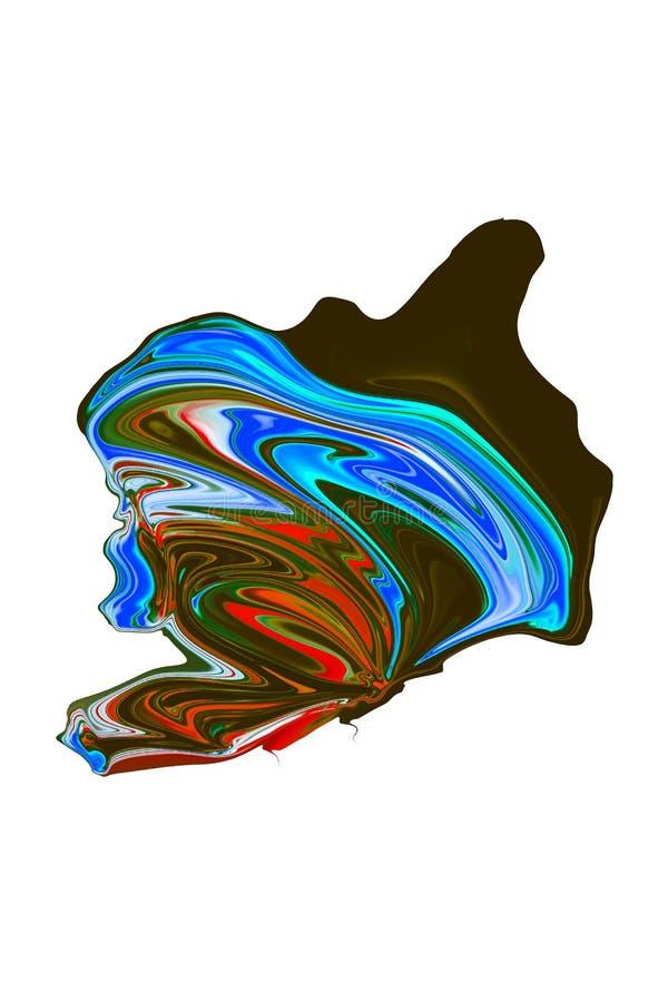 Красочный конспект и расплывчатая предпосылка с яркими цветами стоковые фото