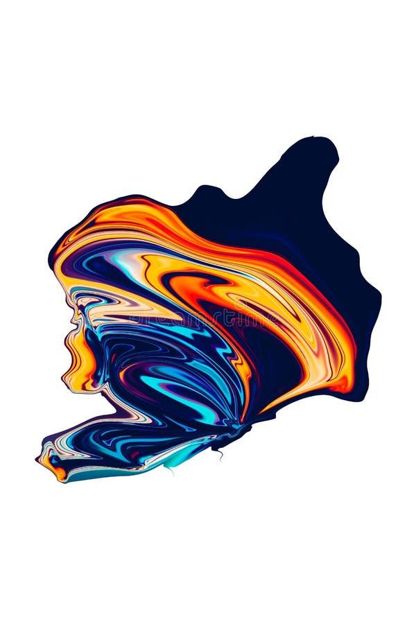 Красочный конспект и расплывчатая предпосылка с яркими цветами стоковое изображение rf
