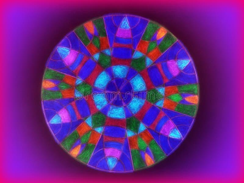 Красочный конспект мандалы стоковые фотографии rf
