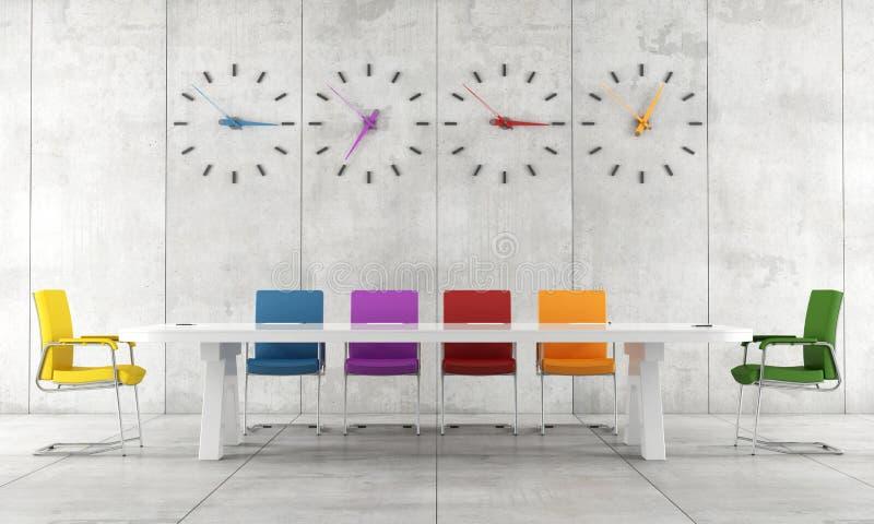Красочный конференц-зал иллюстрация вектора