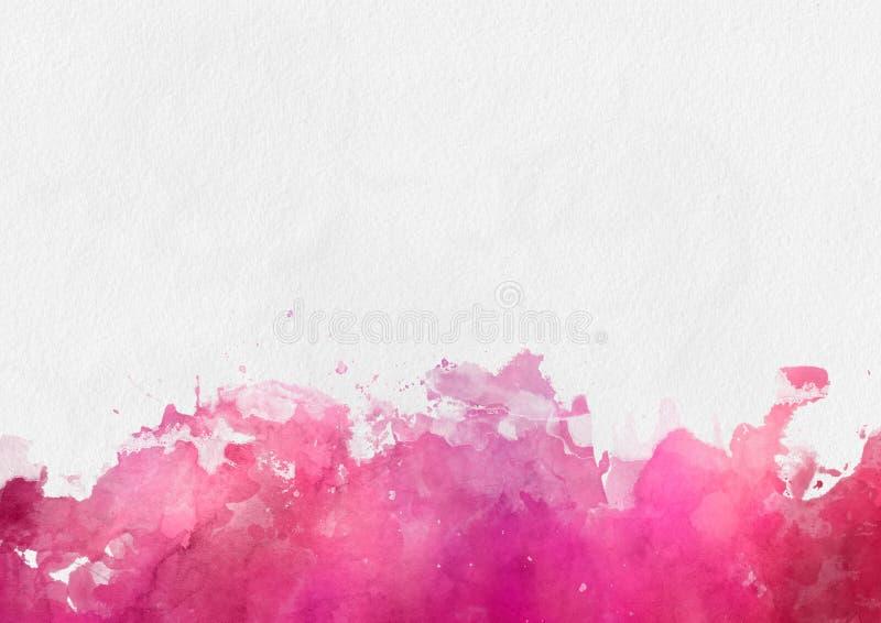 Красочный красный шаблон краски акварели иллюстрация штока