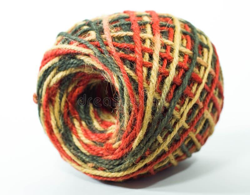 Красочный крен пеньковой веревки стоковое изображение rf