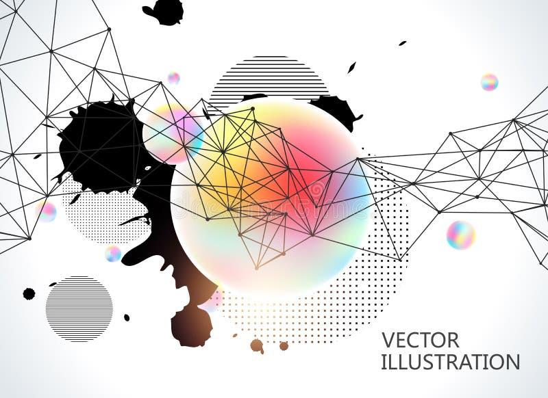 Красочный круг постепенно форм иллюстрация вектора