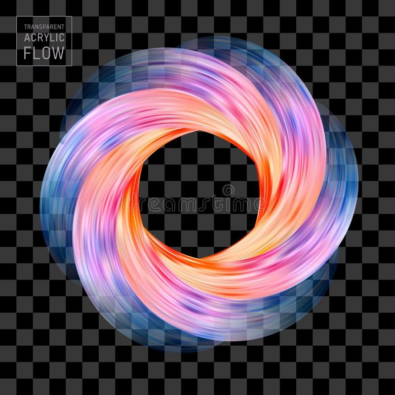 Красочный круг хода щетки вселенной воронки подачи иллюстрация вектора