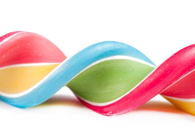 Красочный леденец на палочке изолированный на белой предпосылке E r стоковая фотография rf