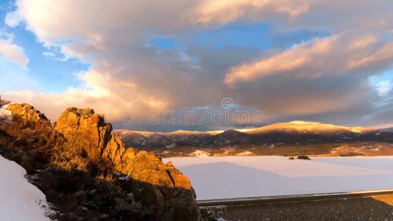 Красочный лес в национальном парке скалистой горы, Колорадо, США стоковое изображение