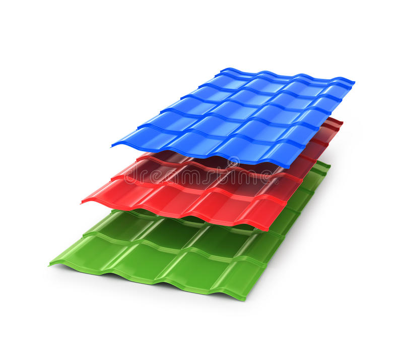 Красочный металлический лист иллюстрация вектора