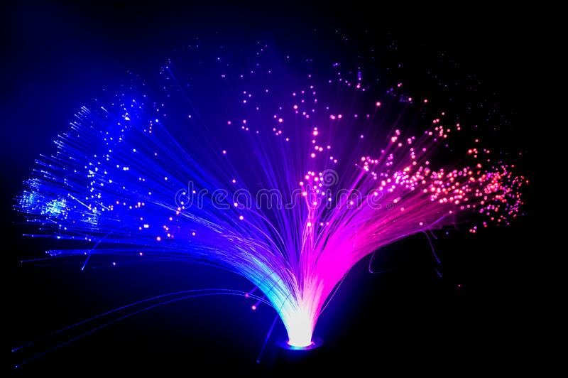 Красочный накалять голубые и фиолетовые света стоковые изображения rf