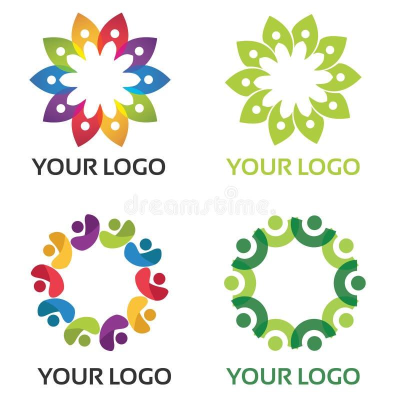 Красочный логотип общины стоковые фотографии rf