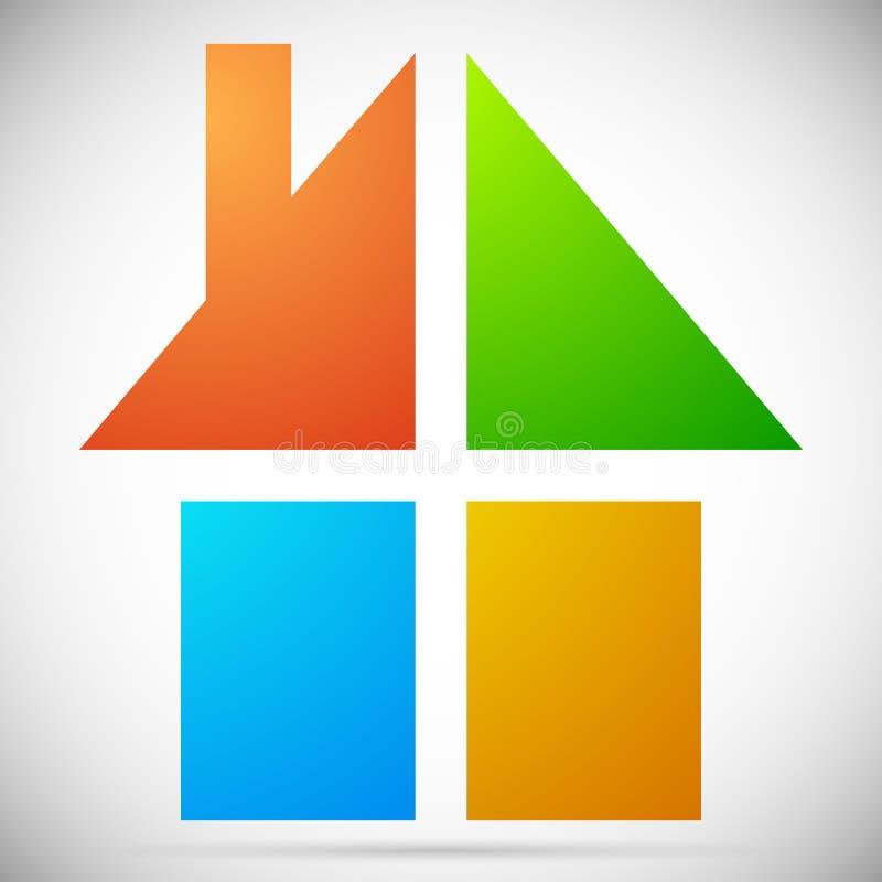 Download Красочный дом, значки дома, логотипы для того чтобы проиллюстрировать недвижимость, Иллюстрация вектора - иллюстрации насчитывающей иллюстрация, дело: 81801704