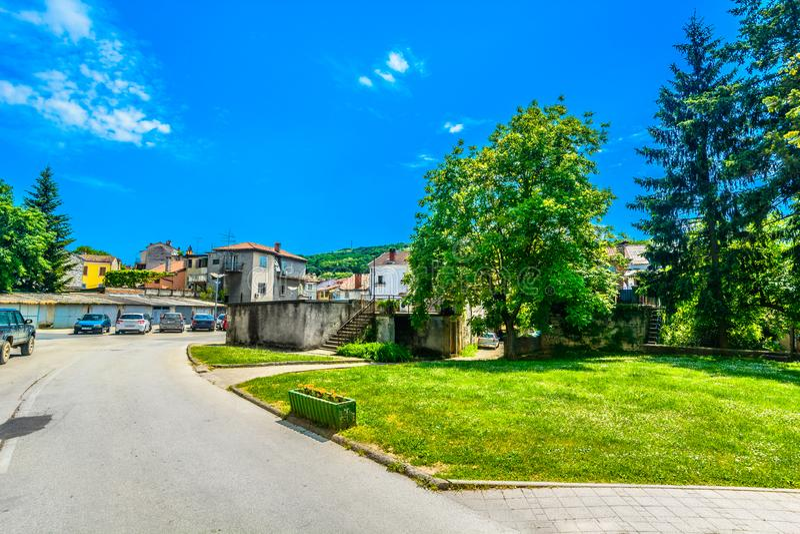 Красочный пейзаж в Хорватии, зона Istra стоковая фотография