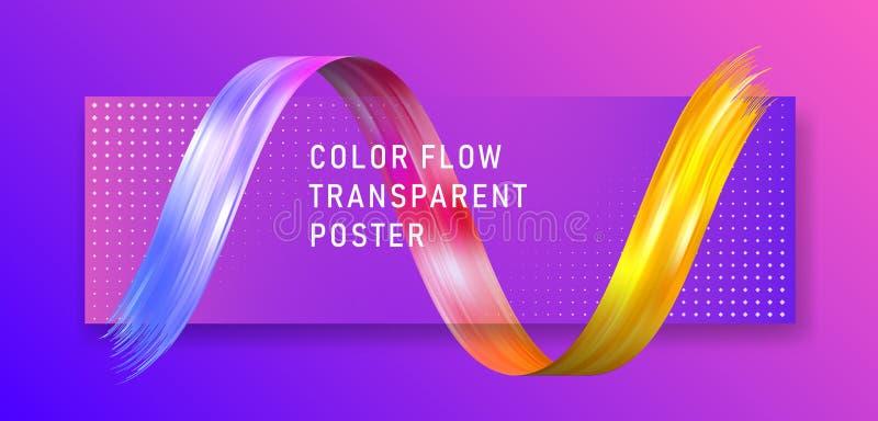 Красочный плакат подачи прозрачный Большая волна закрутки иллюстрация штока