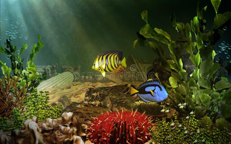 Красочный подводный пейзаж бесплатная иллюстрация
